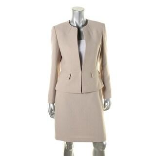 Tahari ASL Womens Jenn Textured 2PC Skirt Suit - 18