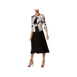 Jessica Howard Womens Dress With Jacket Elbow Sleeves Full-Length