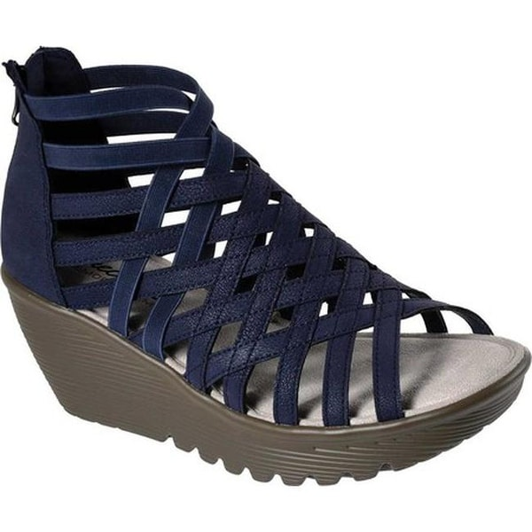 3e01cd3cdf Shop Skechers Women's Parallel Dream Queen Wedge Sandal Navy - Free ...
