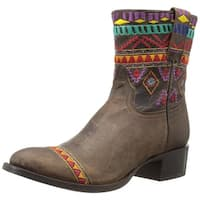 Cinch Womens Marley Leather Closed Toe Ankle Fashion Boots