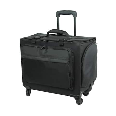Rolling Hard-Sided Deluxe Computer Case