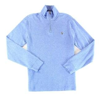 Polo Ralph Lauren NEW Blue Mens Size Small S Quarter Zip Sweater