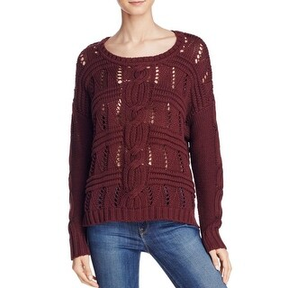 525 America Womens Pullover Sweater Cotton Cable Knit