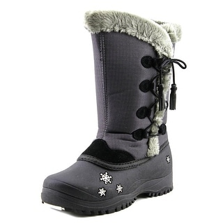 Baffin Cadee Youth Round Toe Canvas Gray Winter Boot