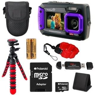 Ivation Waterproof Digital Camera (Purple) & 8 PC Accessory Kit