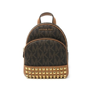 bfc5286c58f5 Shop Michael Kors Abbey Extra Small Studded Backpack In Brown - Free  Shipping Today - Overstock - 21157132