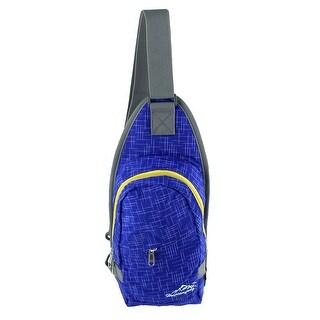 Unique Bargains HWJIANFENG Authorized Climbing Nylon Trekking Hiking Backpack Bag Royal Blue