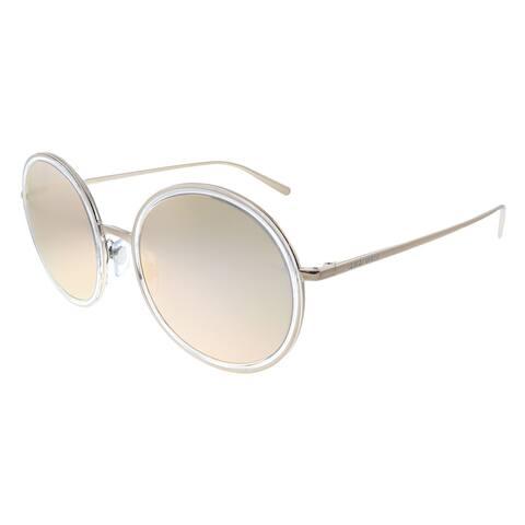 Giorgio Armani AR 6052 30114Z Unisex Bronze Crystal Frame Orange Mirror Lens Sunglasses