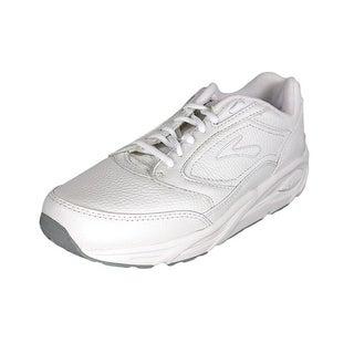 Brooks Addiction Walker Men Round Toe Leather White Walking Shoe