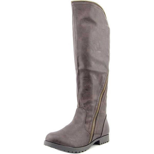 Qupid Wyatte-13 Women Round Toe Synthetic Knee High Boot