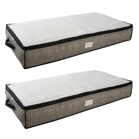 Simplify 2 Pack Under the Bed Storage Bag in Black