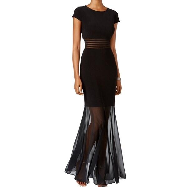 1fb31375b0eb6 Shop Nightway NEW Black Womens Size 4 Illusion Waist-Detail Sheath ...