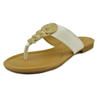 Alfani Harlquin Women Open Toe Synthetic White Thong Sandal