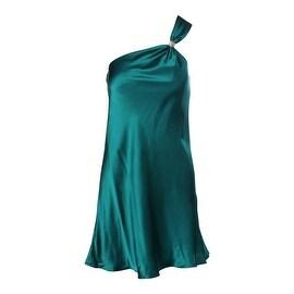 Niteline Womens Lined One Shoulder Cocktail Dress - 2