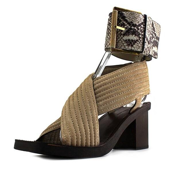 Calvin Klein Jeans Natasha Women Open Toe Suede Tan Sandals