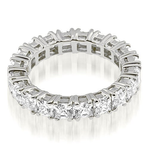 3.50 cttw. 14K White Gold Stylish Bezel Set Round Cut Diamond Eternity Ring