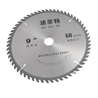 Unique Bargains Unique Bargains Woodworking 230mm x 2.5mm x 25.4mm x 60T Alloy Circular Saw Blade