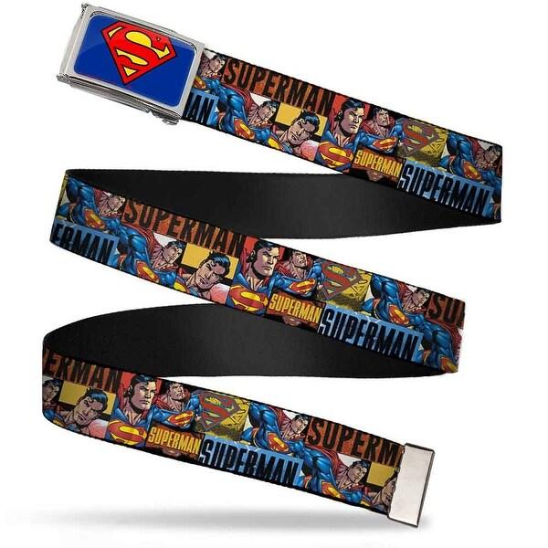 Superman Fcg Blue Chrome Superman Action Blocks Red Blue Webbing Web Belt