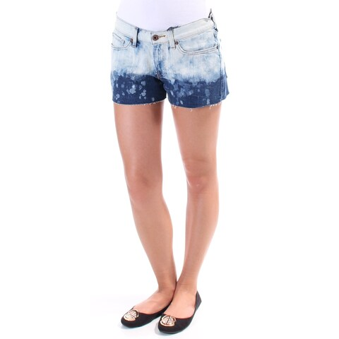 LUCKY BRAND Womens Blue Fringed Ombre Short Size: 2