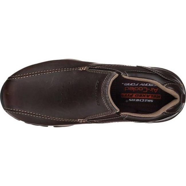 7bcb0c07fc9f7 Shop Skechers Men's Relaxed Fit Rovato Venten Loafer Dark Brown - Free  Shipping Today - Overstock - 19437789