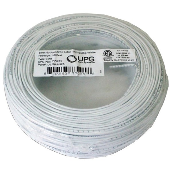 Upg 22-gauge 4-conductor Alarm White Cable 500ft Coil Pack (solid)