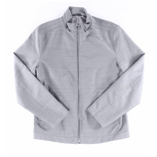 Alfani NEW Gray Mens Size Medium M Lightweight Twill Bomber Jacket