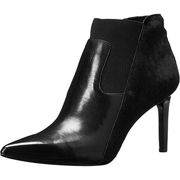 Rachel Zoe Womens Heidi Ankle Boots Calf Fur Pointed Toe