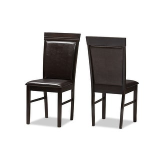 Link to Thea Dark Brown Faux Leather Upholstered Dining Chair - 2pcs Similar Items in Dining Room & Bar Furniture