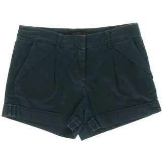 BCBG Max Azria Womens Benita Cuffed Double Pleat Denim Shorts