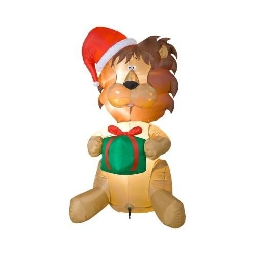 6ft Holiday Inflatable Lion Yard Decoration by Gemmy
