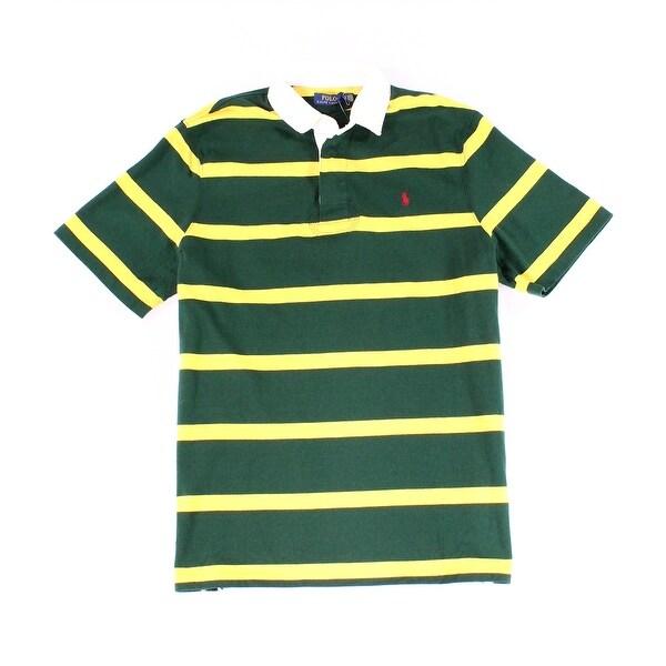 1ec2bf1c Polo Ralph Lauren Green Yellow Mens XL Stripe Polo Rugby Shirt