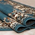 "Allstar Blue Woven High Quality Rug. Traditional. Persian. Flower. Western. Design Area Rug (5' 2"" x 7' 1"") - Thumbnail 1"