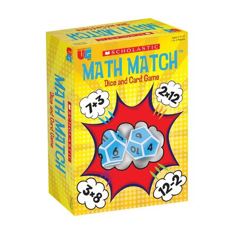 Scholastic - Math Match Dice and Card Game