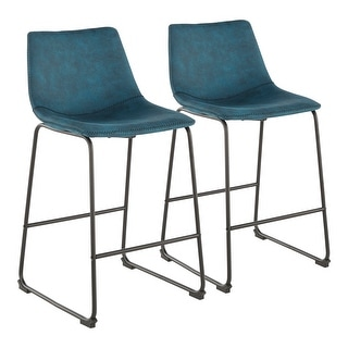 Link to Carbon Loft Richard Industrial Counter Stool (Set of 2) Similar Items in Dining Room & Bar Furniture