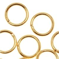 22K Gold Plated Open Jump Rings 7mm 19 Gauge (20)
