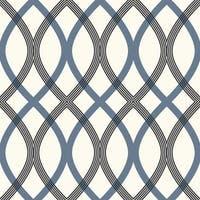 Brewster 2535-20670 Contour Blue Geometric Lattice Wallpaper