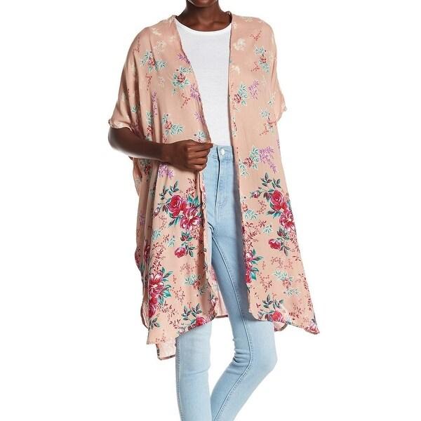 ANGIE Floral Printed Large Junior Kimono Jacket