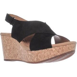 Clarks Annadel Eirwyn Comfort Wedge Sandals, Black