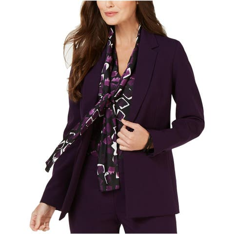 Nine West Womens One-Button Blazer Casual Suit Separates