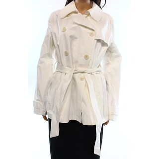 Lauren Ralph Lauren NEW White Women's Large L Double-Breasted Peacoat