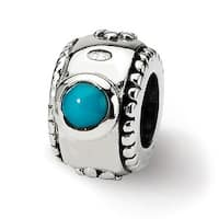 Sterling Silver Reflections Turquoise Bead (4mm Diameter Hole)