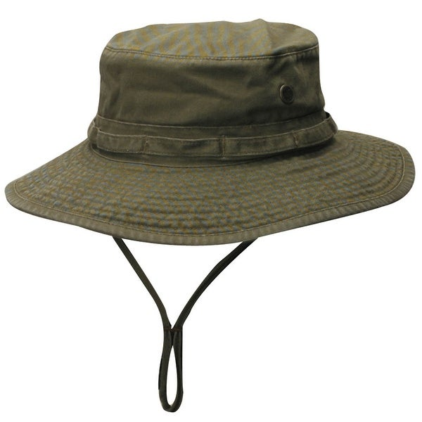 5f733fd058768 Shop Dorfman Pacific Outdoor Boonie Bucket Hat - Olive - Free Shipping On  Orders Over  45 - Overstock - 16948070