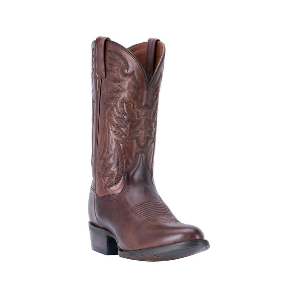 Dan Post Western Boots Mens Centennial Embroidered Chocolate