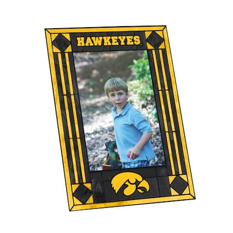 Iowa Hawkeyes Art Glass Vertical Picture Frame