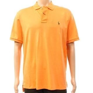Polo Ralph Lauren NEW Orange Mens Small S Soft Pima Touch Polo Shirt
