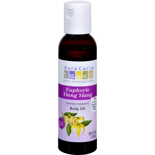 Aura Cacia Aromatherapy Body Oil Euphoria - 4 fl oz