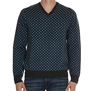 Michael Kors NEW Blue Mens Size 2XL Pull-Over V-Neck Wool Sweater