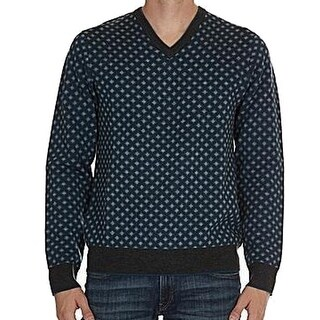 Michael Kors NEW Blue Mens Size XL Pull-Over V-Neck Wool Sweater