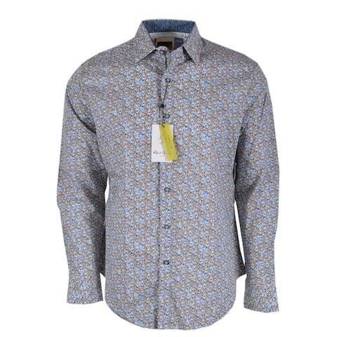 Robert Graham OAKES Mini Floral Printed Cotton Button Down Shirt