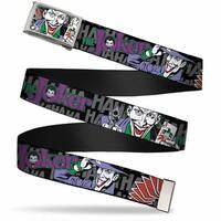 Joker Face W Pistol Close Up Fcg  Chrome The Joker Hahahaha Webbing Web Belt